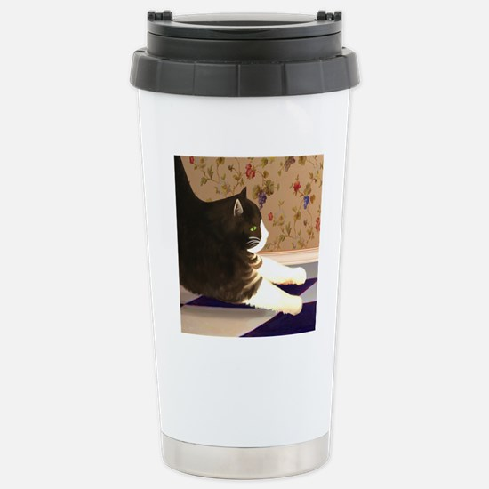 Cat stretching Stainless Steel Travel Mug