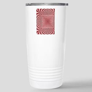 checks_Distorted_RedWhi Stainless Steel Travel Mug