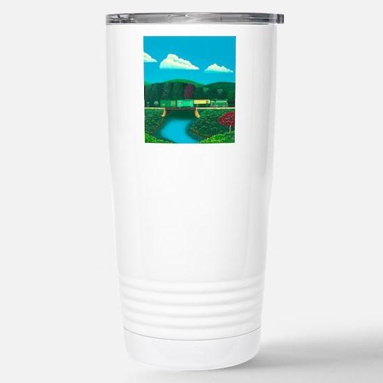 Vermont Springtime Stainless Steel Travel Mug