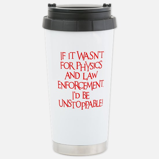 neon red, Unstoppable Stainless Steel Travel Mug