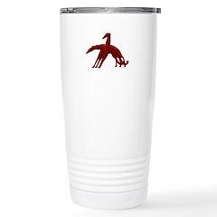 Red Holiday Borzoi Stainless Steel Travel Mug