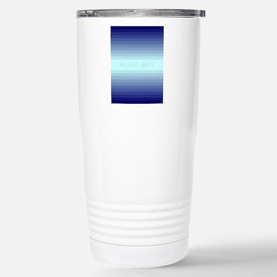 Blue sky ipad Stainless Steel Travel Mug