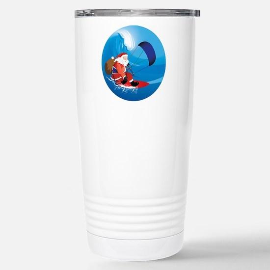 Santa KiteSurf Stainless Steel Travel Mug