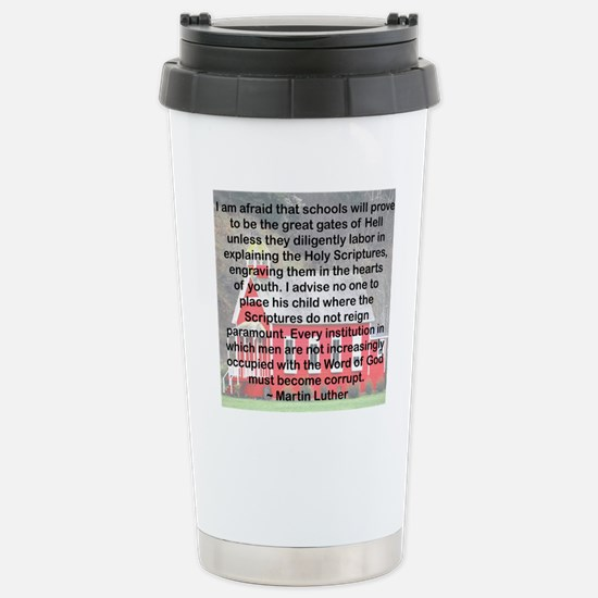 SCHOOLS THE GATES OF HE Stainless Steel Travel Mug