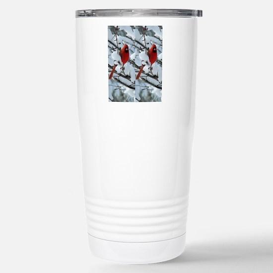 Cardinal Winter Stainless Steel Travel Mug