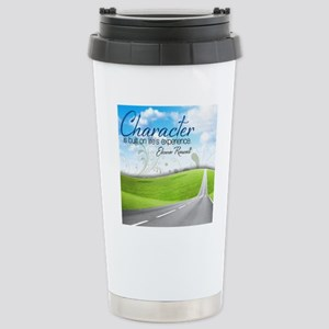 Character Quote on Tile Stainless Steel Travel Mug
