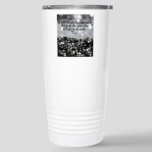 Listen Quote on Tile Co Stainless Steel Travel Mug