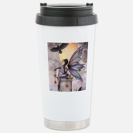 autumn raven square for Stainless Steel Travel Mug