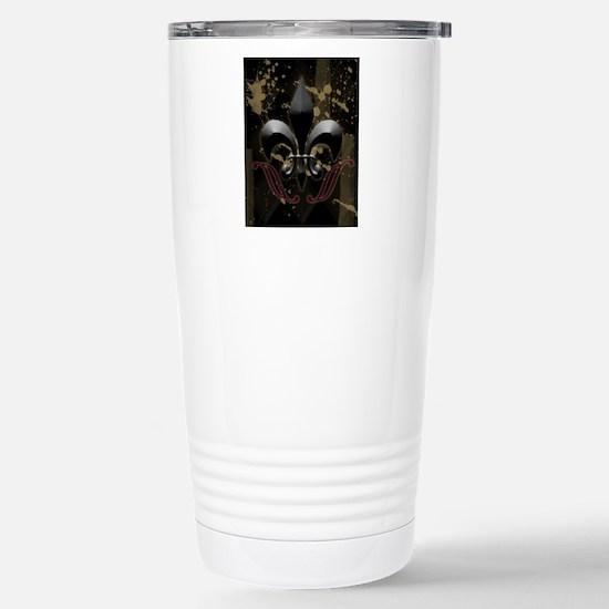 fleurdelis2 Stainless Steel Travel Mug