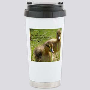 Fly and Follow Quote on Stainless Steel Travel Mug