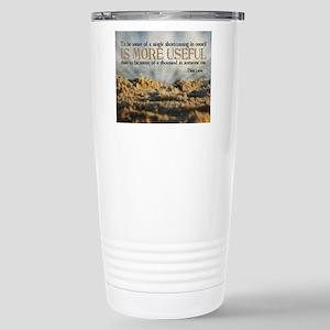 Shortcoming Quote on Ji Stainless Steel Travel Mug
