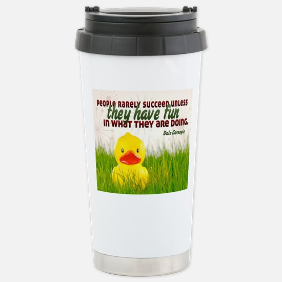 Succeed Quote on Jigsaw Stainless Steel Travel Mug