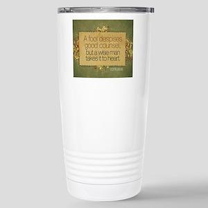 Wise Man Quote on Jigsa Stainless Steel Travel Mug