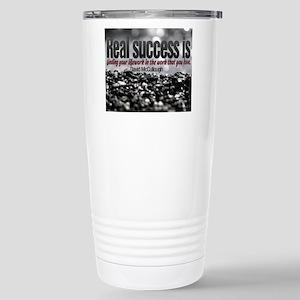 Real Success Quote o Ji Stainless Steel Travel Mug