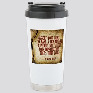 Assert Your Right Quote Stainless Steel Travel Mug