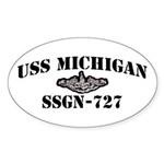 USS MICHIGAN Sticker (Oval)