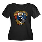 USS MICH Women's Plus Size Scoop Neck Dark T-Shirt