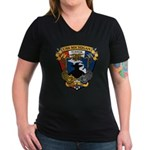 USS MICHIGAN Women's V-Neck Dark T-Shirt
