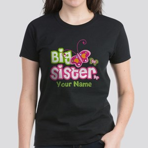 Custom Big Sister paterfly Women's Dark T-Shirt
