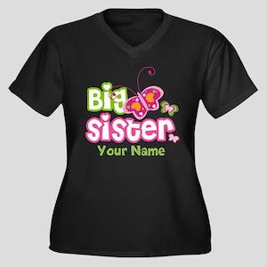 Custom Big S Women's Plus Size V-Neck Dark T-Shirt