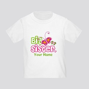 Custom Big Sister paterfly Toddler T-Shirt