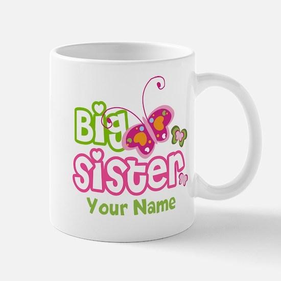 Custom Big Sister paterfly Mug
