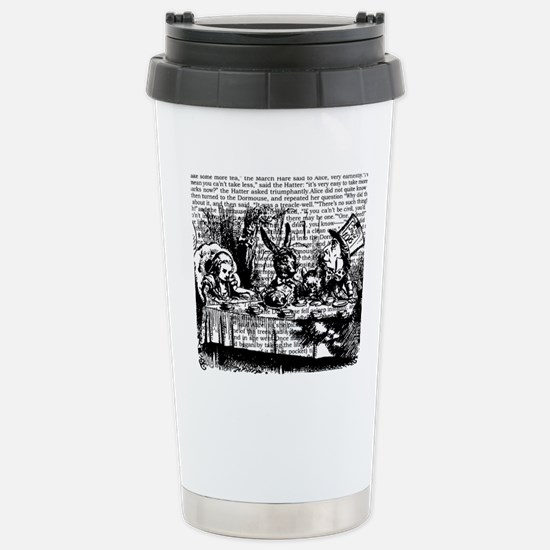 alice-vintage-border_bw Stainless Steel Travel Mug