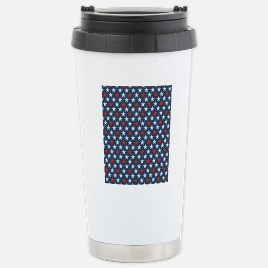 Bold Stars Stainless Steel Travel Mug