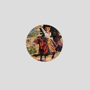 Lady Rider Mini Button