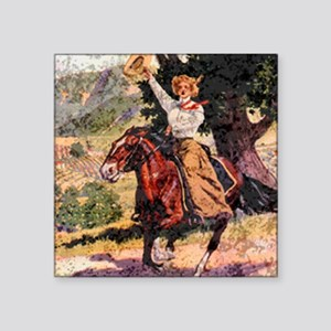 "Lady Rider Square Sticker 3"" x 3"""
