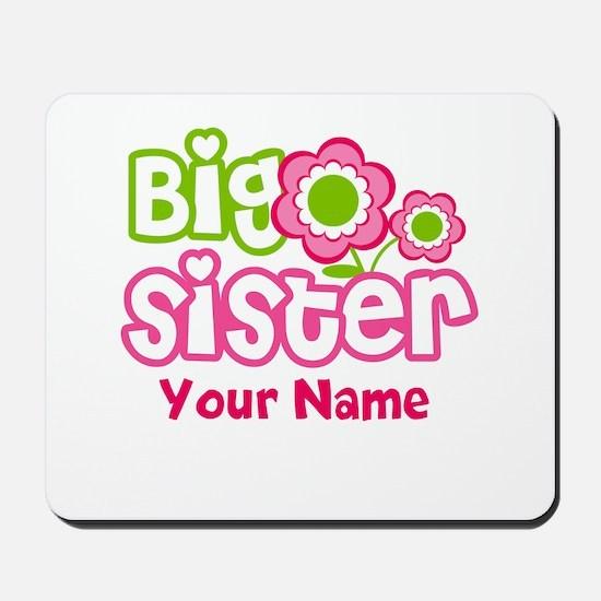 Custom Big Sister Pink Green Mousepad