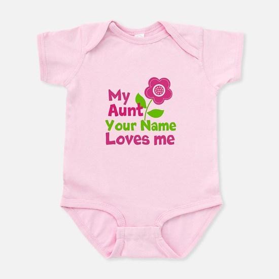 Aunt baby clothes cafepress my aunt loves me infant bodysuit negle Choice Image