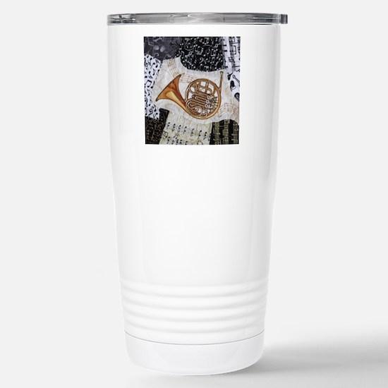 french-horn-ornament Stainless Steel Travel Mug