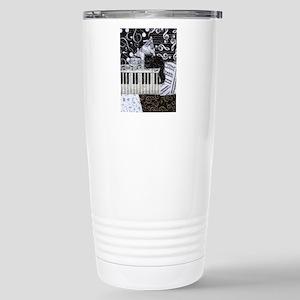 keyboard-sitting-cat-or Stainless Steel Travel Mug
