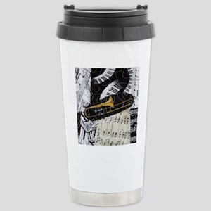Trombone-ornament Stainless Steel Travel Mug