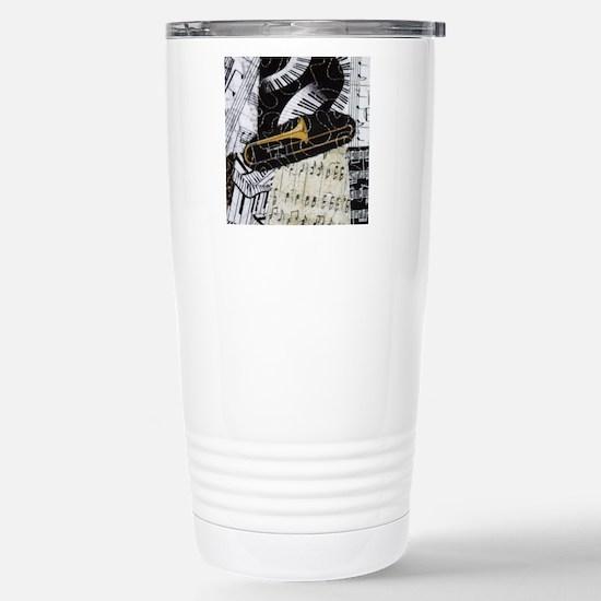 Trombone-ornament Stainless Steel Travel Mug