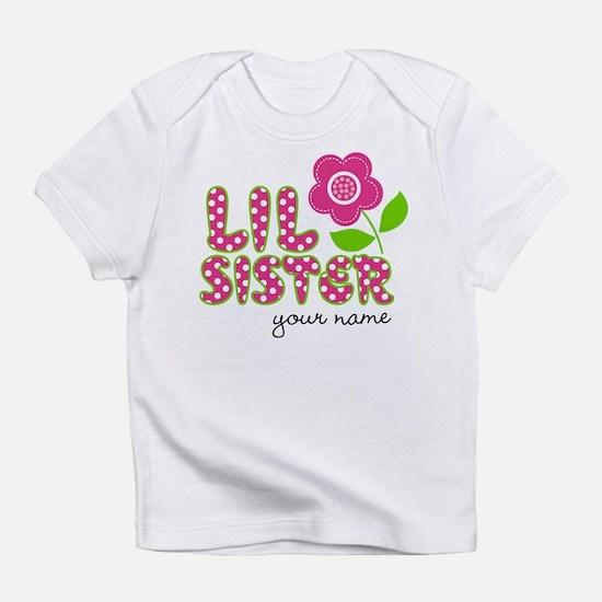 little sister Flower Infant T-Shirt