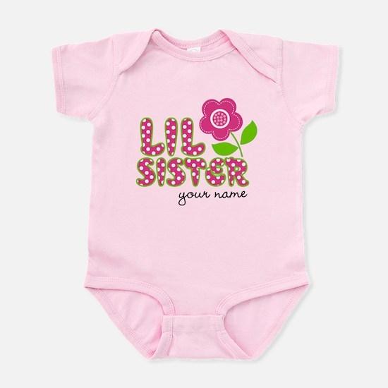 little sister Flower Infant Bodysuit