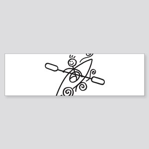 happy kayak black Bumper Sticker