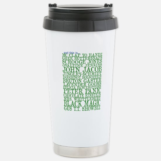 Gus Names Stainless Steel Travel Mug