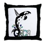 Orca Freedom Throw Pillow