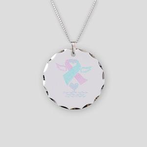 Baby Loss Awareness ribbon Necklace Circle Charm