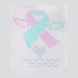Baby Loss Awareness ribbon Throw Blanket