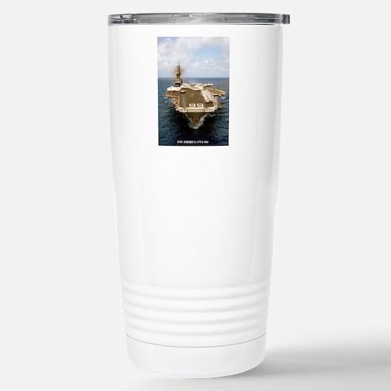america cva framed pane Stainless Steel Travel Mug