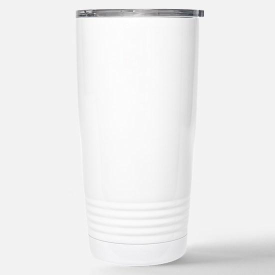 white, Dirty Word Exerc Stainless Steel Travel Mug
