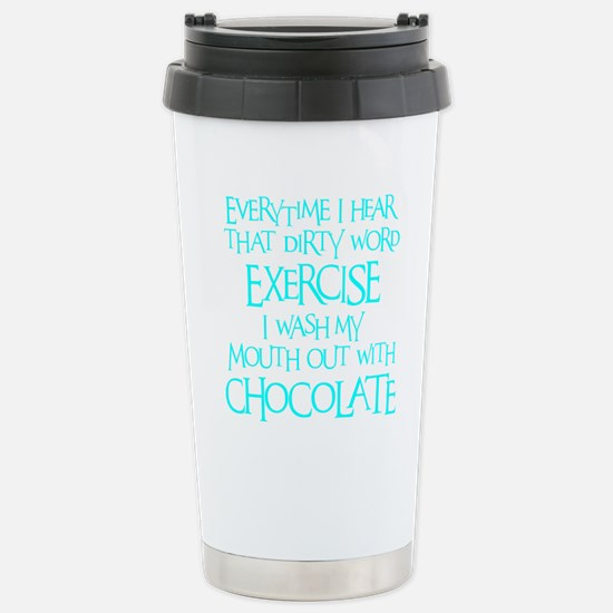 blue 2, Dirty Word Exer Stainless Steel Travel Mug