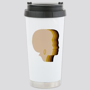 Women Afro Five Tones Stainless Steel Travel Mug
