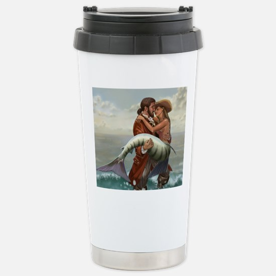 pirate and mermaid mous Stainless Steel Travel Mug