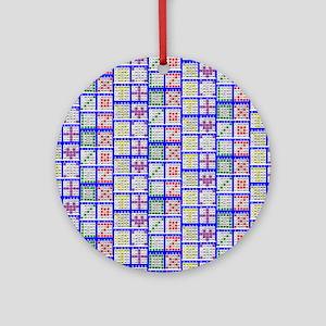 Bingo Game Patterns Offset Ornament (Round)
