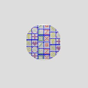 Bingo Game Patterns Offset Mini Button